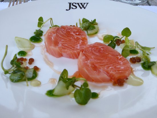 Petersfield, UK: Salmon with watercress and cucumber