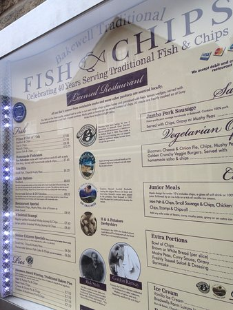 Bakewell fish fish and chips restaurant reviews phone for Fish district menu