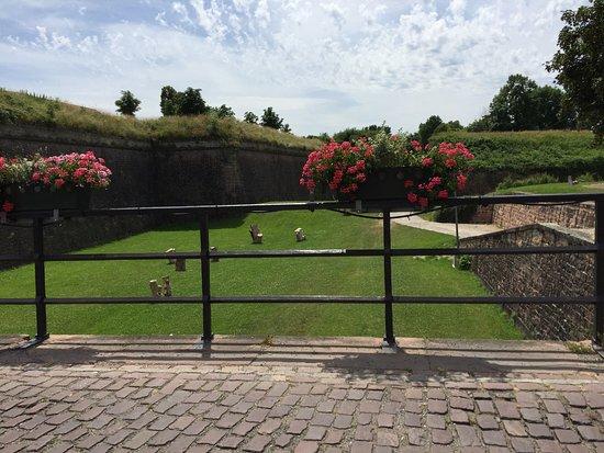 Neuf-Brisach, France : dal ponte d'ingresso