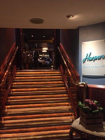 Hibernian Bar: Entrance to Harpers