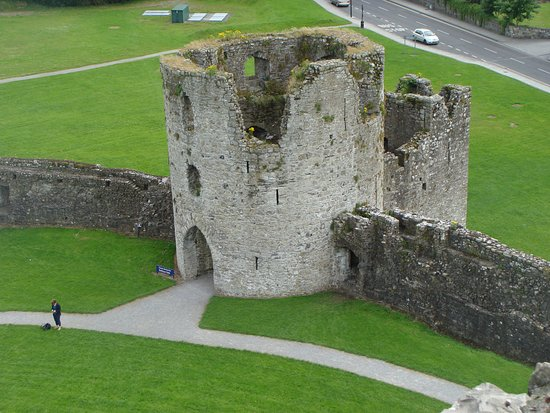 A view from the top of Trim Castle