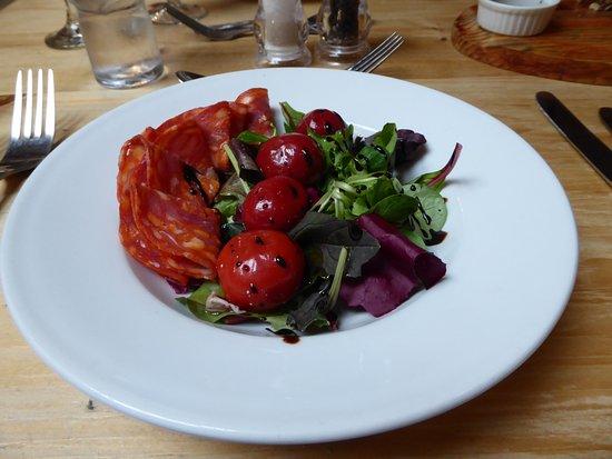 The Old Pheasant: Feta stuffed peppers with Chorizo