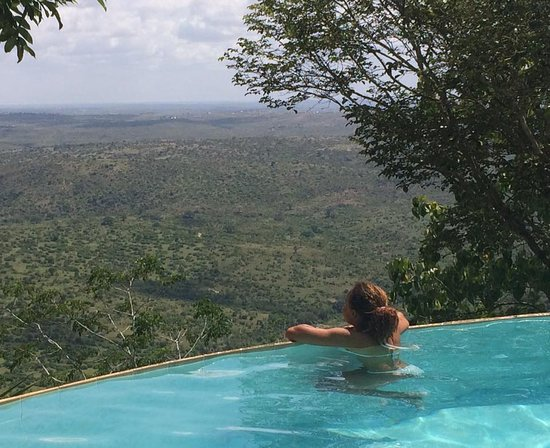 Kwale, Kenya: Brilliant view in this relaxing pool!