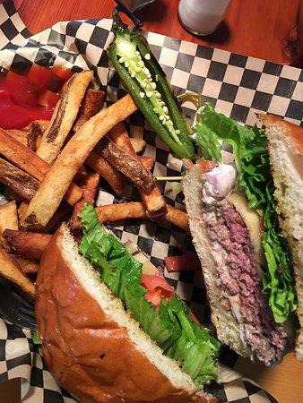 Brookings, OR: Burger Glamour shot!! Look at that Burger, WOW!