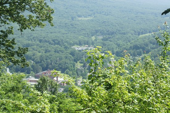 Hot Springs, VA: A view of the Homestead from the top of Deerlick Trail.