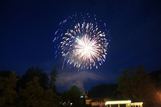Hot Springs, VA: Fireworks as part of the Homestead 250th Anniversary celebrations.