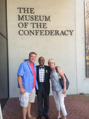 The White House and Museum of the Confederacy: Sergeant Major Haines is in the middle.