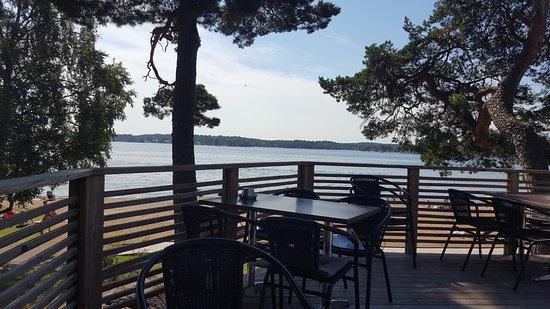 Osterskar, Sweden: Utsikten från restaurangen