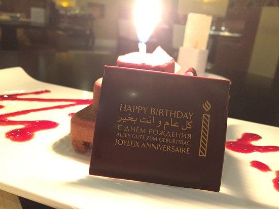 Jumeirah Dar Al Masyaf at Madinat Jumeirah: Surprise Birthday Cake