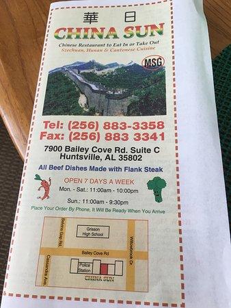 China Sun Huntsville Restaurant Reviews Photos Phone Number Tripadvisor