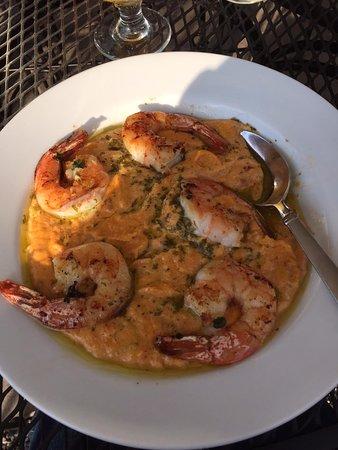 Auburn, NY: Cheesy, succulent Shrimp and Grits.