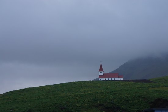 Volcano Hotel: The church in Vik