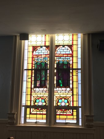 First African Baptist Church: Stained glass windows with secret message for slaves.