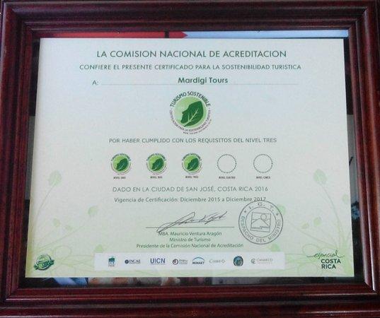 Плайя-Эрмоса, Коста-Рика: Certificado de Sostenibilidad, nivel 3