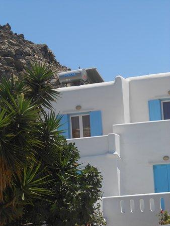 Tourlos, Hellas: frente de las habitaciones