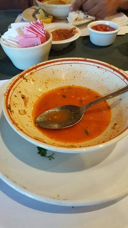 Casa Grande, Αριζόνα: An empty menudo is so good.. that actually is my second serving.. Our first time here.. fried ic
