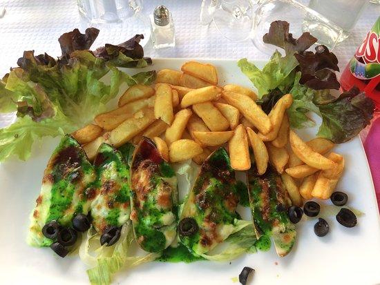 Amelie-les-Bains-Palalda, Prancis: Moules royales gratinées et frites