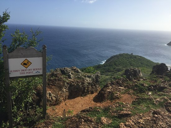 English Harbour, Antigua: Signage w/Exquisite views from Shirley Heights
