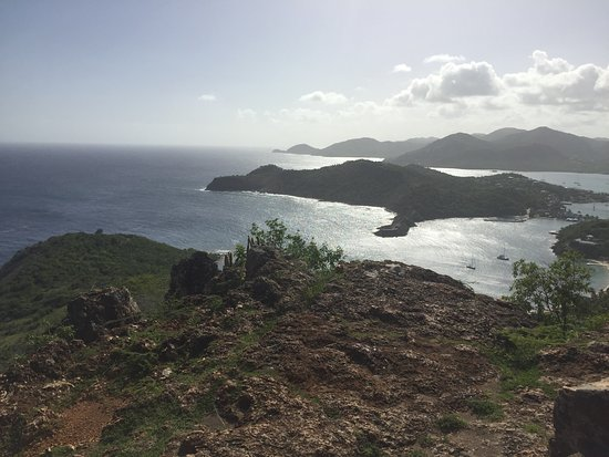English Harbour, Antigua: Exquisite views from Shirley Heights