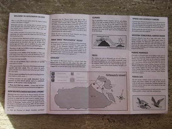 Mansons Landing, Canadá: Good descriptive pamphlet.