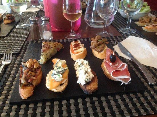 Egletons, Francia: Assiette de tapas de 12 à 14 euros.
