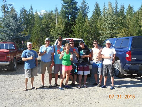Adams River Salmon Run: The great group of people we met.