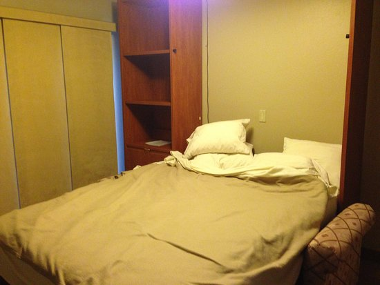 Villas of Sedona : The Murphy bed opening between the couch