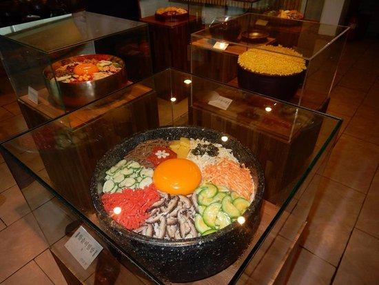 Jeonju, Sør-Korea: Ceramic models of menu items
