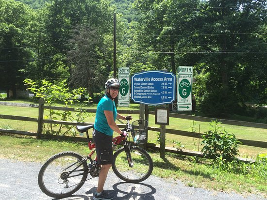 Wellsboro, PA: Heike at the Waterville access point