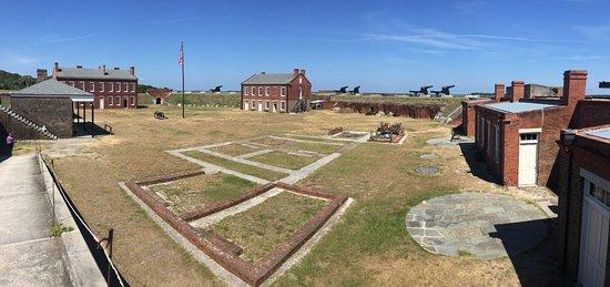 Fernandina Beach, FL: Panoramic of the fort