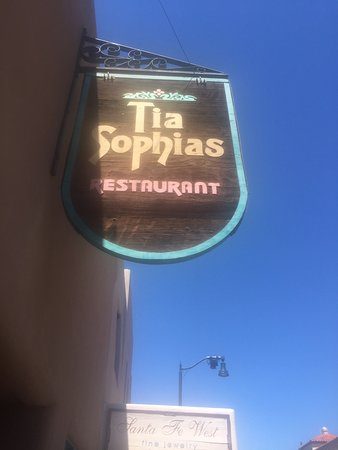 TIA Sophia's: Outdoor sign in was you miss it!