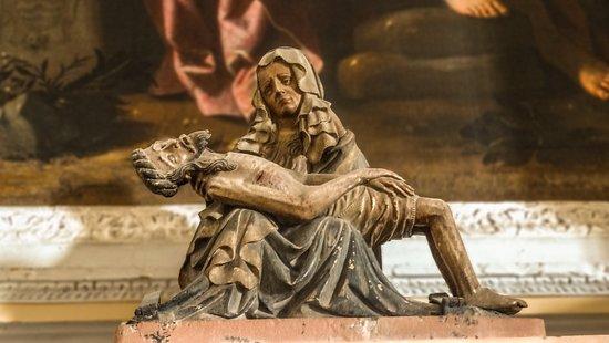 Gubbio, Włochy: Vesperbild di ignoto autore nordico - 1450