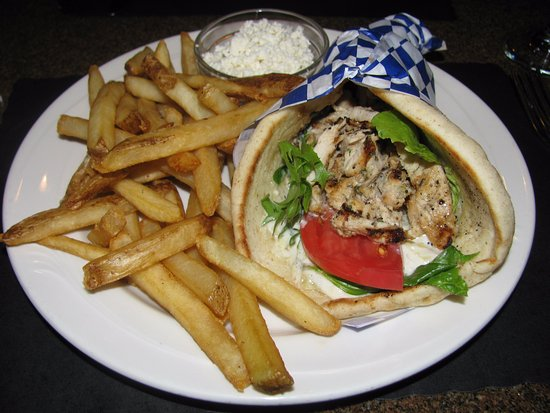 Hamburg, État de New York : chicken souvlaki wrap
