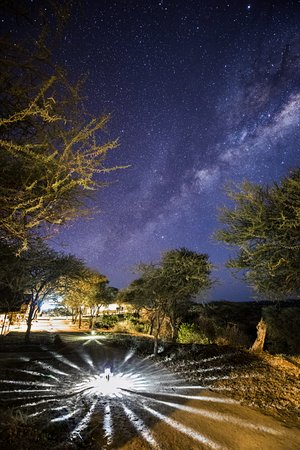 Tarangire Safari Lodge: This is the view from our tent to the main lodge.