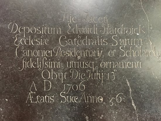 Salisbury Cathedral: Find the proofreading correction :)