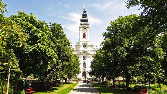 Donauschiffahrt Wurm + Köck: Baroque church Engelhartszell - skeletons inside!
