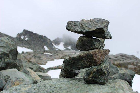 Canadian Wilderness Adventures: Inukshuk above treeline