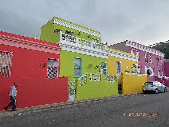 Cape Town, South Africa: Case colorate di Bo-Kaap, Città del capo