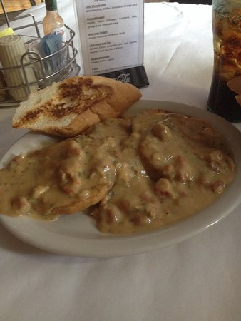 Port Allen, LA: Eggplant Medallion w/Crawfish Étouffée