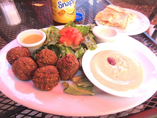 Falafal Plate, Olympus Caffe & Bakery, Mountain View, Ca