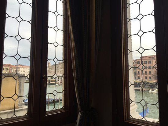Foscari Palace: View from inside Room 101, looking straight out