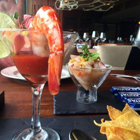 Shrimp Cocktail and Mango Ceviche