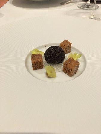 Gabriel Kreuther Truffle Encrusted Foie Gras With A Sauternes Gelee