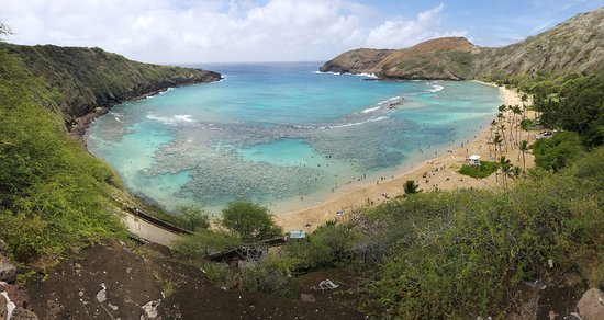 Hanauma Bay Nature Preserve: View from the top viewing platform
