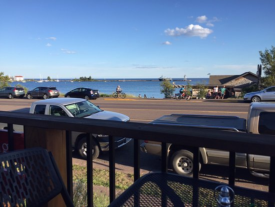 Grand Marais, MN: View from deck seating area