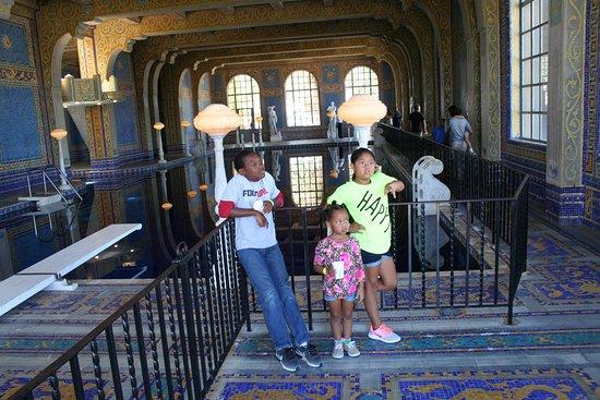 Hearst Castle: grand kids enjoy the indoor pool