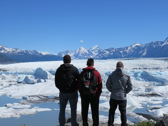 Knik Glacier Day Tour: After taking the boat ride, we explored land next to the Knik Glacier.