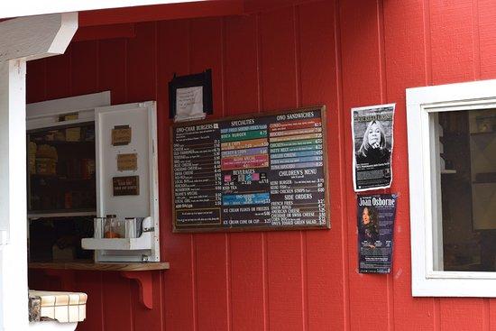 Anahola, HI: the menu