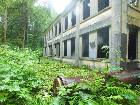 Douglas, AK: A larger building on the Treadwell Mine Trail