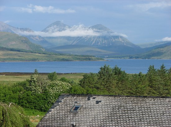 Strathgorm Bed and Breakfast : Red Cuillins from bedroom window